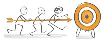 Ziele, Zielscheibe, zielgruppe; Teamarbeit; gemeinsam, Gespann, Geschäft, erfolg; erfolgreich; zusammen; Kunde; treffen, zielen, anlauf, motivation, bewerber; business; focus; gruppe; akquiese; kanditaten; kunden; Pfeil; kundengewinnung; marketing; Führung, optimistisch, coaching, Teambuilding, erreichen, Volltreffer, marktforschung; social media; target; targeting; team; treffer; werbung; teamwork; Online-Targeting; werbung; verkauf; symbol, männchen; Strichmännchen